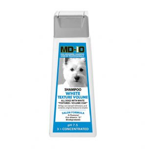 MD10 White Texture Shampoo 300ml (1.2 Litre Diluted) Spanish Water Dog, Poodle, Bichon Frise, Bolognese, Curly Coat, Shiba, Lagotto, Samoyed, Westy